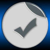 Metalic button Royalty Free Stock Photo