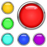 Metalic Button Set Stock Images