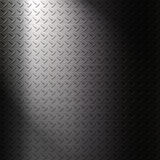 Metalic checker plate surface background for creative work Stock Images