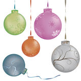 Metalic color christmas balls Royalty Free Stock Images
