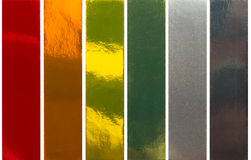 Metalic colors samples Stock Images
