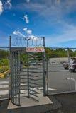 Metalic exit door Royalty Free Stock Image