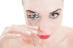 Metalic eyelash curler Stock Images