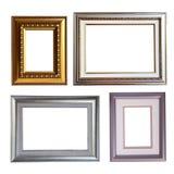 Metalic frame. Four type of isolate metalic frame Royalty Free Stock Image