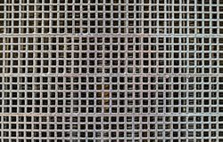 Metalic grille. Close up view Stock Photo