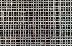 Metalic grille. Engine, close view Stock Photos