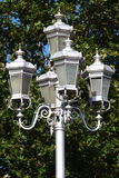 Metalic lamp. Old metalic lamp in the park Royalty Free Stock Images