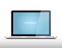 Metalic laptop Royalty Free Stock Photos