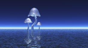 Metalic mushroom cluster Stock Image