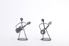 Metalic musicians figures Stock Photos