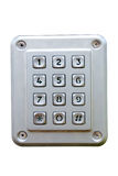 Metalic number keyboard Stock Photography