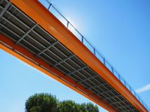Metalic orange bridge Royalty Free Stock Image