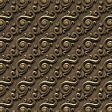 Metalic pattern. bas-relief of seamless textures, consisting of various elements of architectural ornaments. And decorative elements on an iron surface. 3D vector illustration