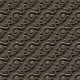 Metalic pattern. bas-relief of seamless textures, consisting of various elements of architectural ornaments and decorative. Elements on an iron surface. 3D royalty free stock photography