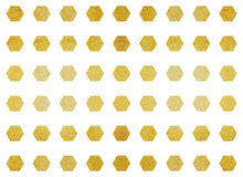 Metalic polygon shape tile Stock Photos