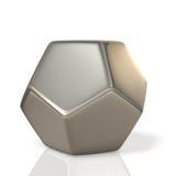Metalic polyhedron Stock Image