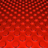 Metalic red round shape pettern background Stock Photo