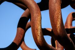 Metalic rusty pipes. Close up view Royalty Free Stock Photos