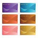Metalic set of business cards Stock Photos