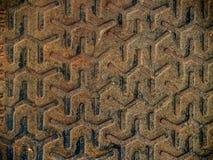 Metalic texture of iron. Metalic texture of brown iron Royalty Free Stock Photo