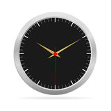 Metalic Watch With Black Face Royalty Free Stock Photos