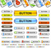 Metalic web site button. Stock Photo