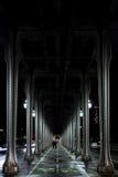 Metalique bridge. Spectacular view under a bridge in paris Royalty Free Stock Images