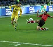 Metalist与Metalurh足球比赛 库存图片
