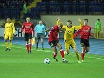 Metalist与Metalurh Zaporizhya足球比赛 库存图片