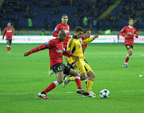 Metalist与Metalurh Zaporizhya足球比赛 免版税库存照片