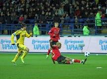 Metalist与Metalurh Zaporizhya足球比赛 库存照片