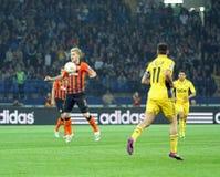 Metalist与Shakhtar顿涅茨克足球比赛 免版税库存照片