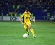 Metalist哈尔科夫对迅速维恩足球比赛 库存照片