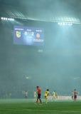 Metalist εναντίον του αγώνα ποδοσφαίρου Shakhtar Ntone'tsk Στοκ εικόνες με δικαίωμα ελεύθερης χρήσης