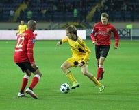Metalist против спички футбола Metalurh Zaporizhya стоковая фотография rf