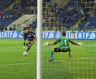 Metalist contre le match de football de Zorya Images stock