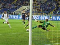 Metalist contre le match de football de Zorya Photographie stock libre de droits