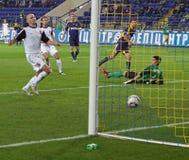 Metalist contre le match de football de Zorya Photos libres de droits