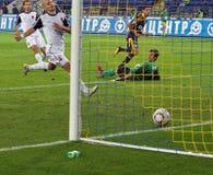 Metalist contre le match de football de Zorya Images libres de droits