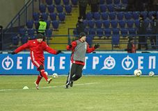 Metalist - Debreceni UEFA football match Stock Photo