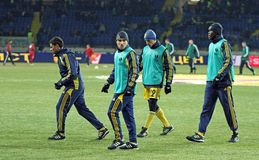 Metalist - Debreceni UEFA football match Stock Photos