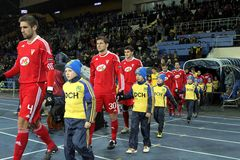 Metalist - Debreceni UEFA football match Stock Photo
