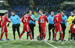 Metalist - Debreceni UEFA football match Royalty Free Stock Image
