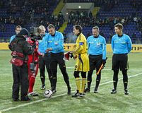 Metalist - Debreceni UEFA football match Stock Photography