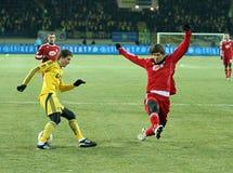 Metalist - Debreceni UEFA football match Stock Photography
