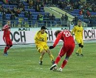 Metalist - Debreceni UEFA football match Royalty Free Stock Image