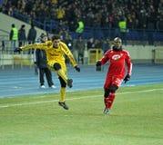 Metalist - Debreceni UEFA football match Stock Image