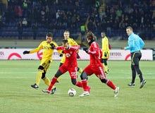 Metalist - Debreceni UEFA football match Royalty Free Stock Photos