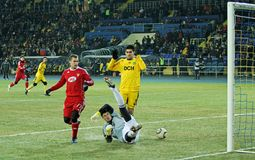 Metalist - Debreceni UEFA football match Stock Images