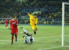 Metalist - Debreceni UEFA football match Stock Photos